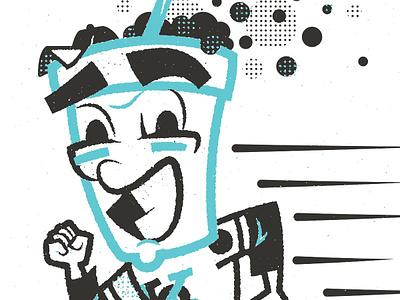 Foamie base kickball t-shirt character illustration design