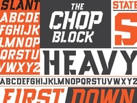 Chop Block Heavy and Slant