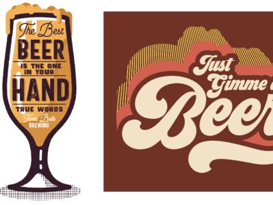 Collection beer branding identity t-shirt vintage type illustration design