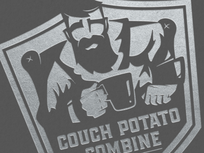 Couch Potato Combine branding identity icon logo illustration design