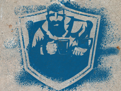 Spray Paint Logo combine sports logo illustration design