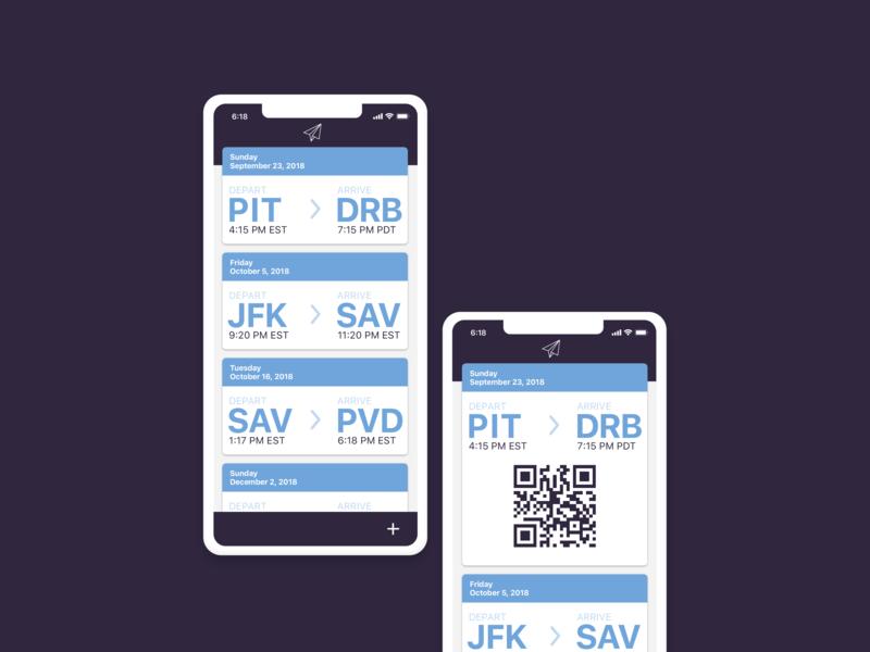 Hey Dribbble! user center design iphonex mockup plane ticket firstshot boardingpass userinterface app ux ui design