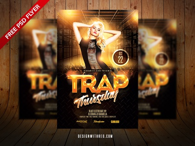 Trap Thursday Free Flyer Template party club freebie redsanity template flyer psd free