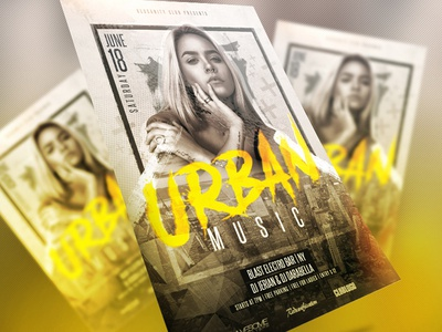 Club Flyer PSD Template