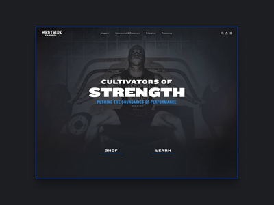 Westside Barbell Homepage Design strength training strength weightlifting barbells brand extension branding web design