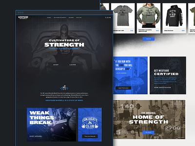 Westside Barbell Homepage strength training strength brand extension branding web design