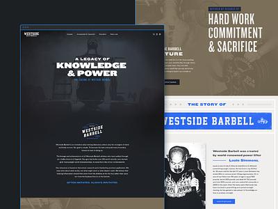Westside Barbell History strength training strength brand extension web design