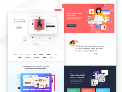 Stylitics Homepage Design platform technology product style outfitting branding ui design ux design design system web design agency design creative direction
