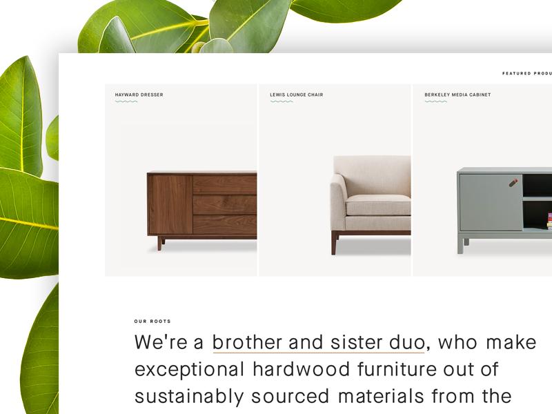 Furniture Detail design web
