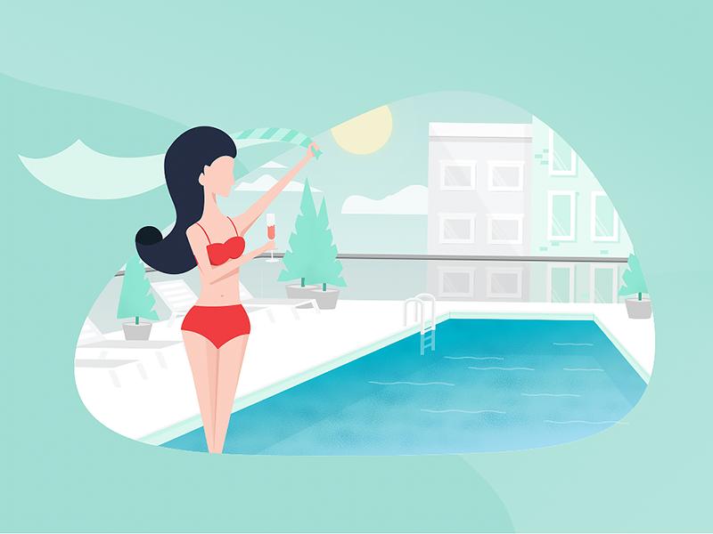 Rose All Day! branding web design illustration