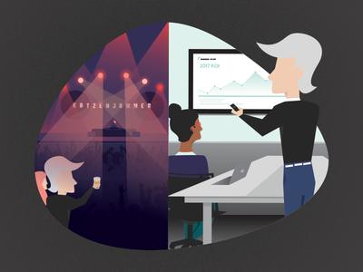 Sunday Funday. Meeting Monday. branding web design vector illustration