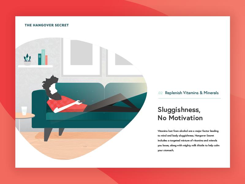 Hangover Secret Replenish Illustration web design illustration
