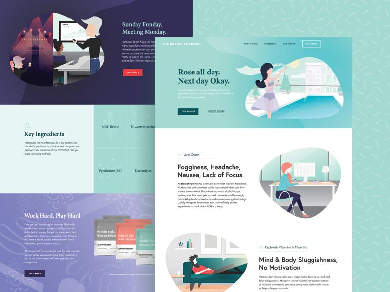 The Hangover Secret Website illustration web design