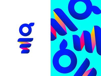 Lil g Spring gradient g branding icon logo