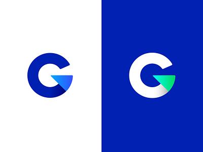 Guitar Pick g blue branding icon g logo