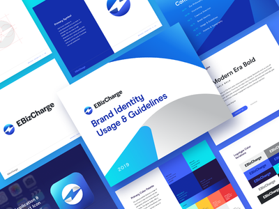EBizCharge Brand Guide identity system brand guide brand guidelines agency design creative direction logo icon branding