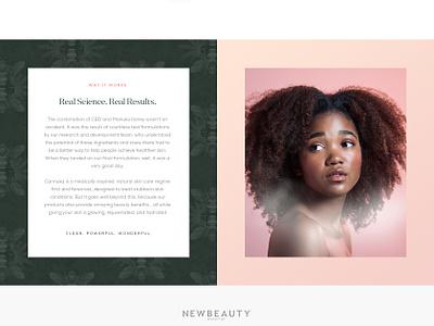 Cannuka Homepage agency branding art direction creative direction digital skincare cannabis cbd web design