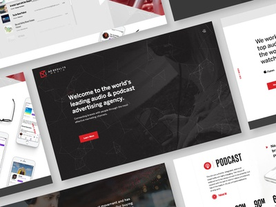 Ad Results Media V2 design agency particles podcast creative direction ux ui design web  design