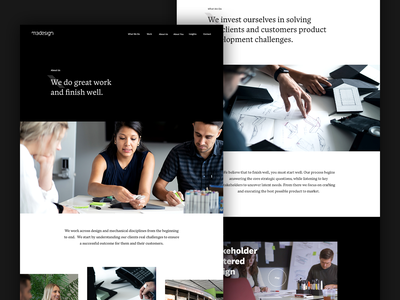 M3 Design About Pages typography ui ux minimal art direction animation agency design creative direction web design