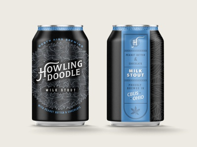 Howling Doodle Milk Stout Beer Can
