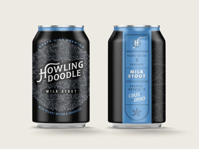 Howling Doodle Milk Stout Beer Can beer can illustration logo agency design creative direction branding