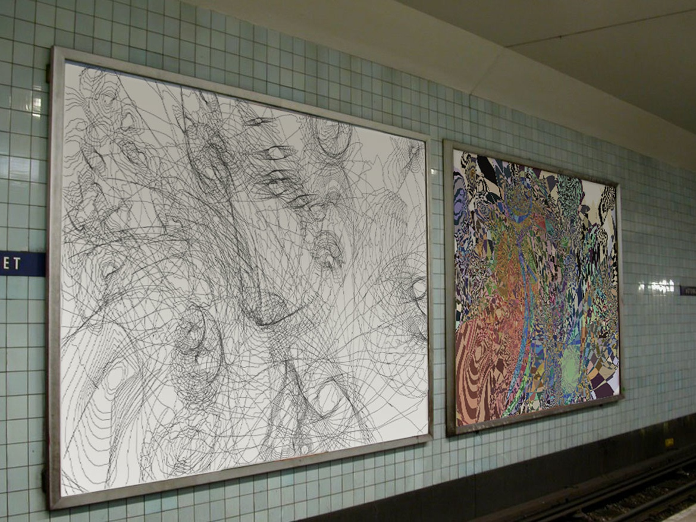Gubs Installation installation digital drawing digital art art
