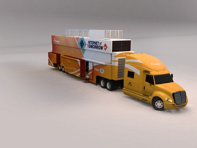 Freescale™ Semi Conductor 3D Renders corporate trailer trailers automotive freescale 3d cinema4d anderson mobile estates