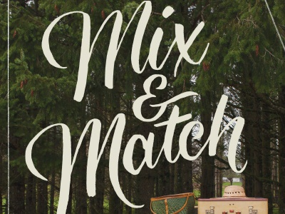 Mix & Match lettering typography type hand-drawn