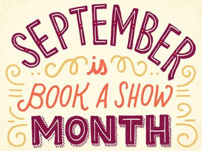 September hand-drawn september type typography lettering