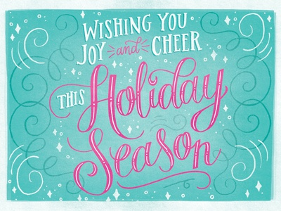 Holiday Card hand lettering art card christmas holiday drawing lettering