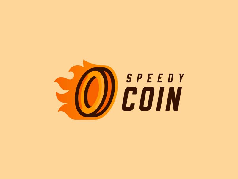 Speedy Coin Logo mascot logo rianda design rianda coin logo coin flat cartoon logo design cartoon