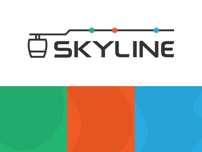 Skyline Branding cable car brand and identity brand design logo
