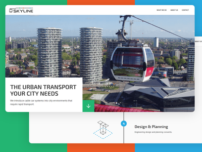 Skyline Website cable car web design illustration website animation web