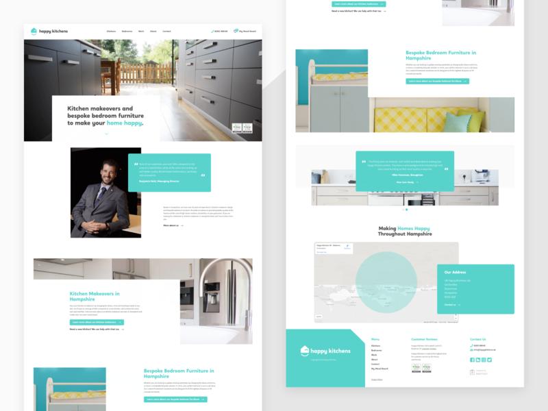 Happy Kitchens Website Design animation branding typography ui ux logo creative brand 2.5d web design illustration web