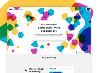 Aquamarine Website Design