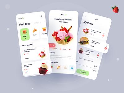 Foddy | A Special  Food Ordering Platform food ux mobile app design food layout ui food delivery food illustration food app foodie mobile app ui mobile app