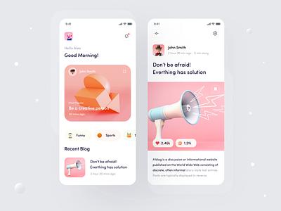 Beyondblogg  Application Mobile Screens product interaction branding illustration news app ui news app quotes article blog ui ux clean ui minimal