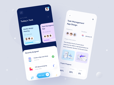 Jeltasko Task Management Application first draft interaction user experience clean ui minimal illustration product animation task manager task management glass effect glassmorphism