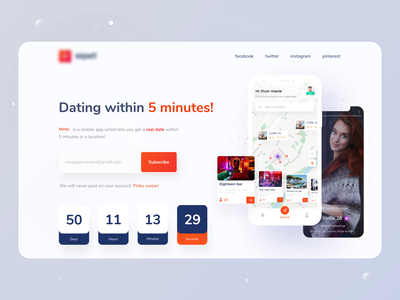 Minto Dating Application launching page exploration datingapp dating ui dating in 5 min hunting typogaphy social bumble tinder partner match app ui hunt interaction minimal dating app
