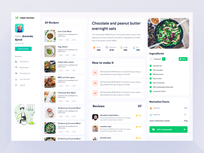 Yummy Dashboard Project first draft interaction illustration clean ui typogaphy food app meal app meal prep meal planner food minimal