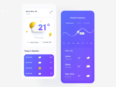Weather Application weather news accu weather ios typography product design uiux clean ui minimal design weather ui 3d weather app cloud apps weather app