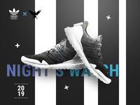 Adidas X GoT - Night's Watch Yeezy