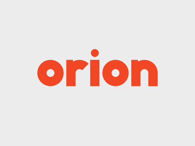 Orion red bold typogaphy type typedesign typeface typegraphy orion logotype design logotype