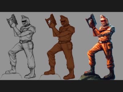 Soviet Trooper WIP