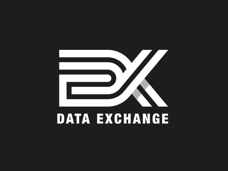 DX Logo data illustrator artwork logotype graphic design branding design logo typography