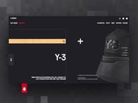 Y-3 web promo concept
