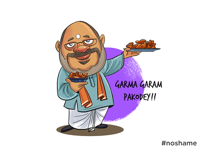 Amit Shah - #noshame illustration sarkar modi amit shah bjp politica cartoon politics indian