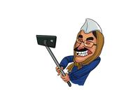 Arvind Kejriwal With Selfie Stick