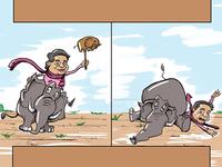 Bahujan Samaj Party Caricature Design