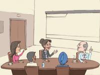 Meeting In Office - Sticker Design